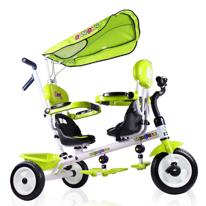 CANCHN Twins rotate seat foam tyre trolley tricycle, double seat baby trike, 2 color for available, steel frame twins tricycleCANCHN Twins rotate seat foam tyre trolley tricycle, double seat baby trike, 2 color for available, steel frame twins tricycle