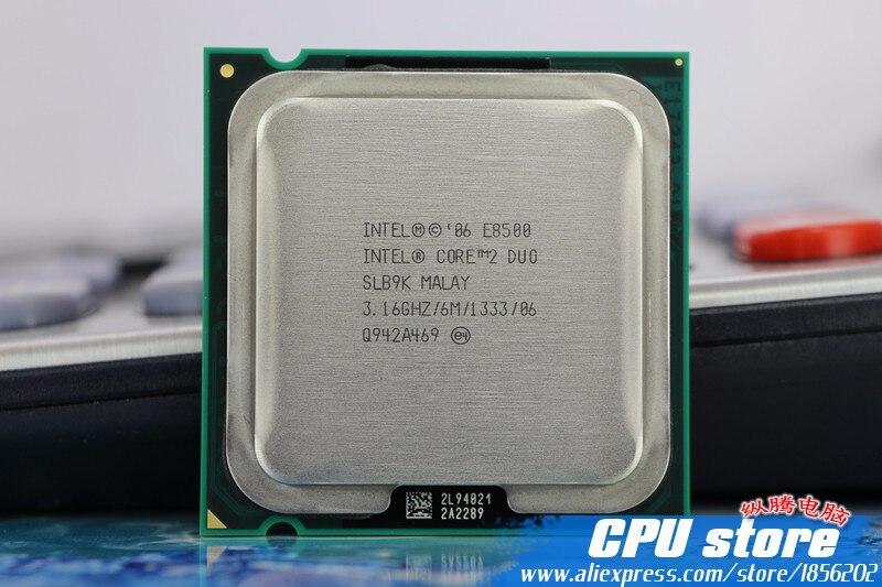 Intel Core 2 Duo E8500 CPU Processor (3.16Ghz/ 6M /1333GHz) Dual-Core Socket 775 (working 100% Free Shipping) sell E8400 E8600