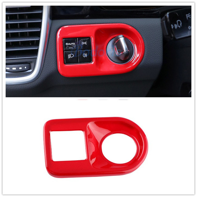 For Porsche Cayenne 2018 2019 Red Carbon Fiber Silver Color Headlight Engine Start Stop Switch Cover Car Styling Accessories Interior Mouldings Aliexpress
