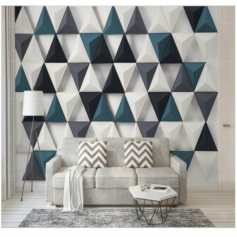 Modern Simple 3d Stereo Triangle Home Improvement Decoration Wallpaper For Walls Background Wall Painting Mural
