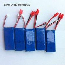 Rechargeable 5 Pcs 7.4 V 2000 mAh Batteries pour SYMA X8C RC Quadcopter