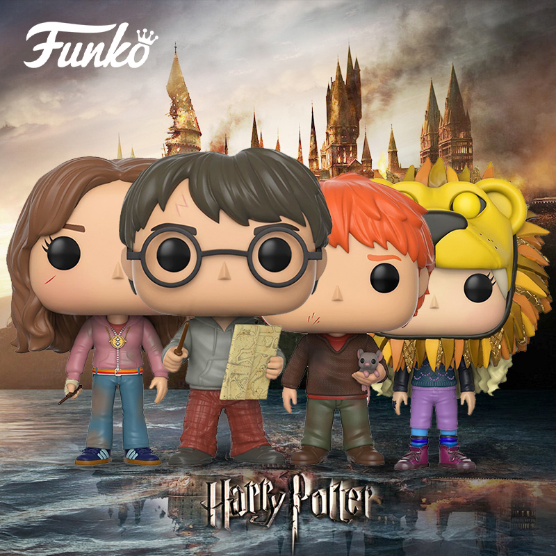 Official FUNKO POP Harry Potter - LUNA, Hermione, RON, GINNY, PETER Vinyl Action Figure Collectible Model Toy with Original Box