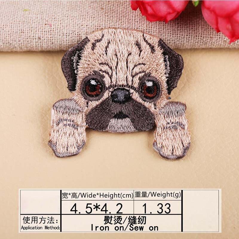 1 шт., нашивка для вышивания собаки, термопередача, гладить на вышивать на пачках для одежды DIY, футболка, тканевая наклейка, декоративные аппликации 47267 - Цвет: A