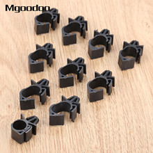 10Pcs Car Wiring Harness Fastener Clips For Car Route Fixed Clips Corrugated Pipe Tie Wrap Cable Clamp Oil Pipe Beam Line Clip