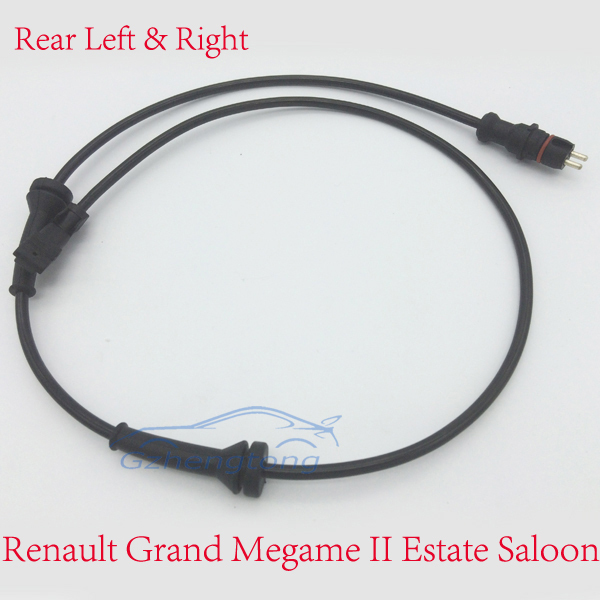 for Renault Grand Megane II Estate Saloon 2002 2003 2004 Rear Axle Left and Right ABS Brake Wheel Speed Sensor 82 00 296 571