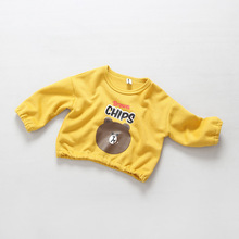 Children's Clothing Bro*n Bear Hoodies 2016 New Baby Boys And Girls Loose Pullover Solid Soft Fashion Kids Cartoon Tops