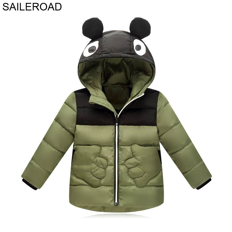 SAILEROAD 3-7Years Winter Children Boys Cotton Padded Jacket Coat Autumn Cartoon New Baby Kids Boys Girls Outerwear Down Coat thicken in the long paragraph down cotton padded 2018 girls jacket new korean female baby winter coat children s coat mf 28