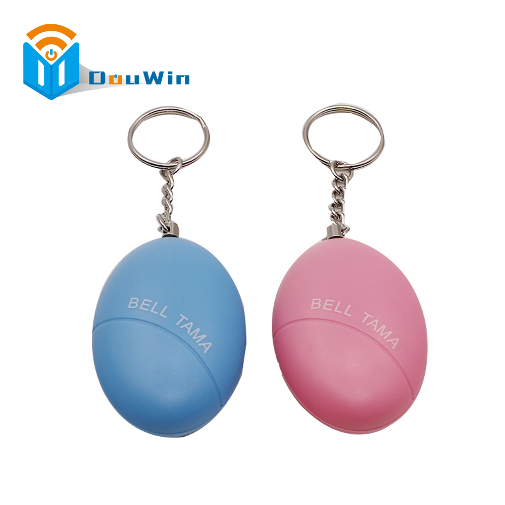 Egg Shape Self Defense Alarm Girl Women Security Protect Alert Personal Safety Scream Loud Keychain Alarm from Douwin 2016 2pcs a lot self defense supplies alarm personal key ring protection alarm alert attack panic safety security rape alarm