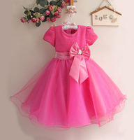 New 2013 Baby Girl Wedding And Party Dresses Hot With Big Bow Girl S Gorgeous Princess