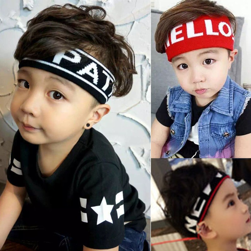 Baby Boys Girls Breathable Sports Running Headband Headwear Toddler Absorb Sweat Pattern Hairband