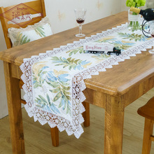 цена на 2019 New Promotion Idyllic Willow Print Table Flag Cloth Custom Cabinet Coffee Table Home Decoration Cover Towel Table Runner