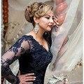 Горячая Продажа 2016 Новый Королевский Синий Русалка Кружева Аппликация мать невесты платья Длинные Мать Платья Для Свадьбы вечернее Платье