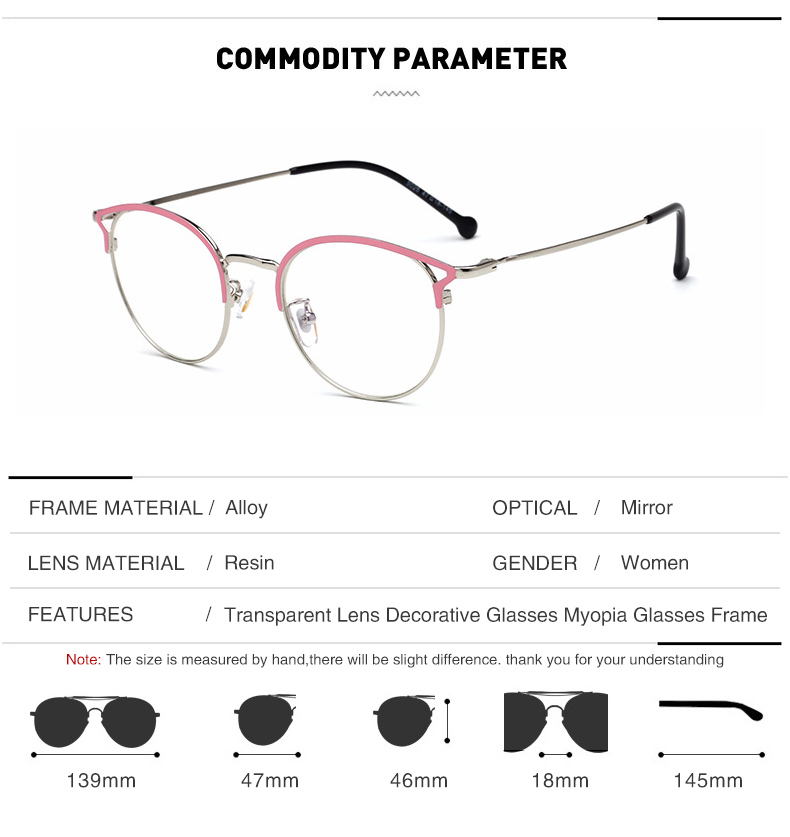 8ebd63c5f0a DIDI Fashion Women Glasses Frame Hollow Thin Metal Cat Eye Optical Frames  Eyeglasses Ladies Round Clear Lens Eyewear Brand WL976