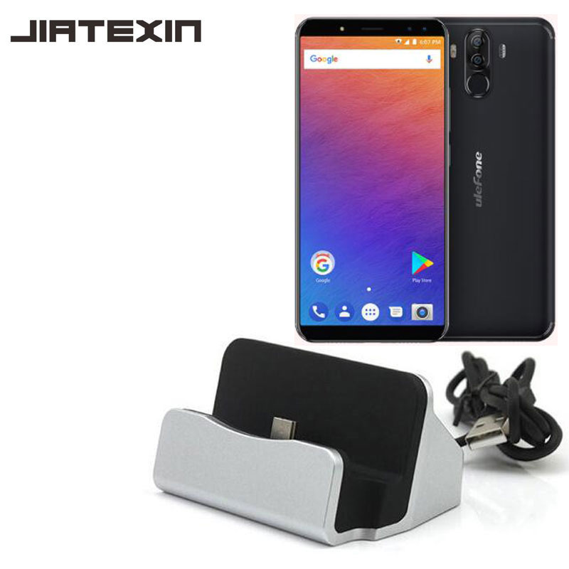 JIATEXIN Für <font><b>Ulefone</b></font> <font><b>Power</b></font> <font><b>3</b></font> Desktop Data Sync Typ C Usb-kabel Dock Ladestation Für <font><b>Power</b></font> <font><b>3</b></font> S Ladestation Adapter image