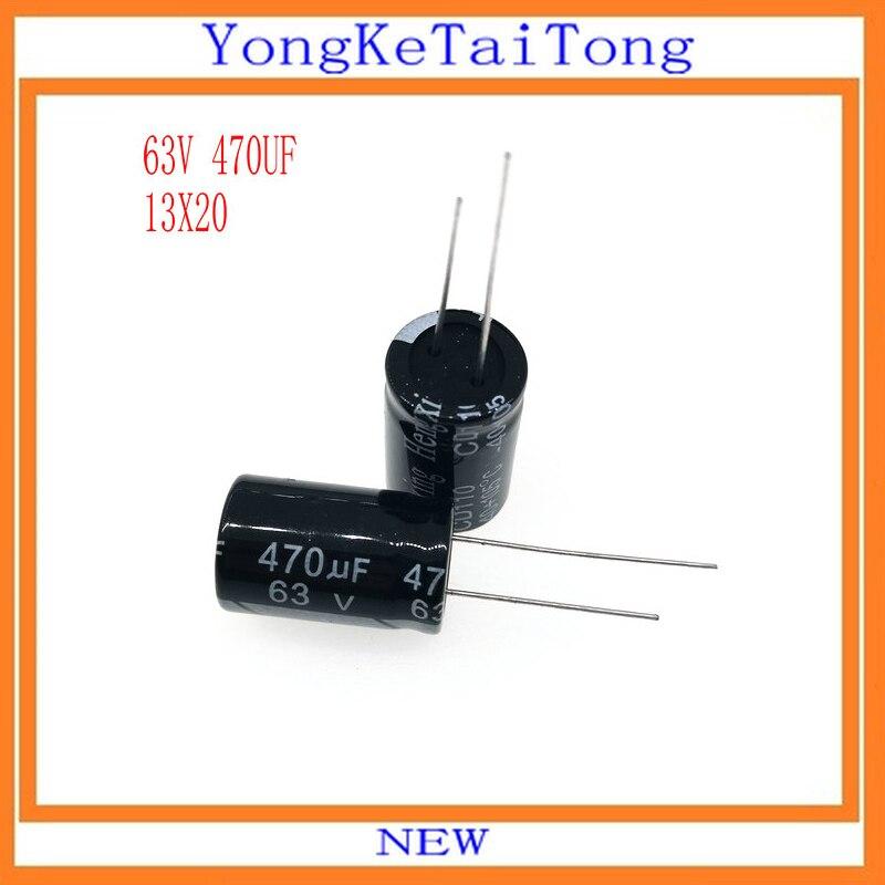 10PCS/Lot Aluminum Electrolytic Capacitor 16V 25V 35V 50V 63V 470UF 63V470UF 470UF63V 105C