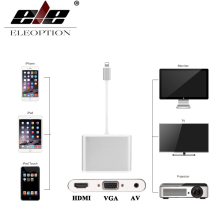 Newest Lightning to HDMI / VGA / AV Digital Adapter For iPhone 8 7 7 Plus 6 For iPad for Monitor Projector