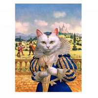 Needlework DIY DMC 14CT unprinted Cross stitch kits For Embroidery Cat Princess Counted Cross Stitching embroidered crafts