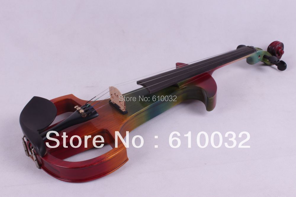 4/4 Electric Violin Solid wood 7 --8# silvery  more  color  4 string 4 4 electric violin solid wood 4 1 silvery blue red color 4 string
