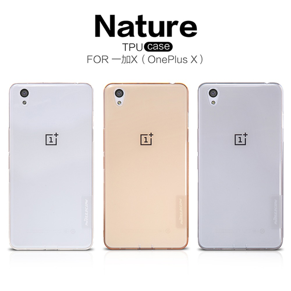 OnePlus X Case NILLKIN Nature TPU Case Ultra Thin Transparent  S Line Clear TPU Soft Back cover case for OnePlus X with package