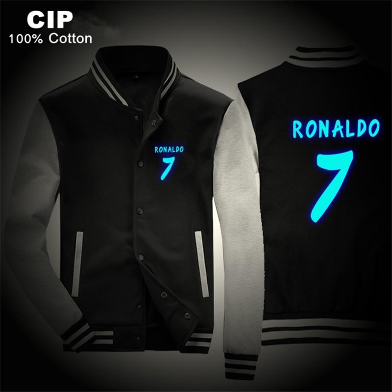 Unparteiisch Ronaldo Winter Kinder Warme Kleidung Kinder Jacken Jungen Cartoon Mode Baby Warmen Mantel Noen Ronaldo 7 Baseball Jacke Anime