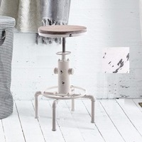 Industrial Solid Wood Water Pipe Design Cafe Coffe Industrial Bar Table white USA Stock
