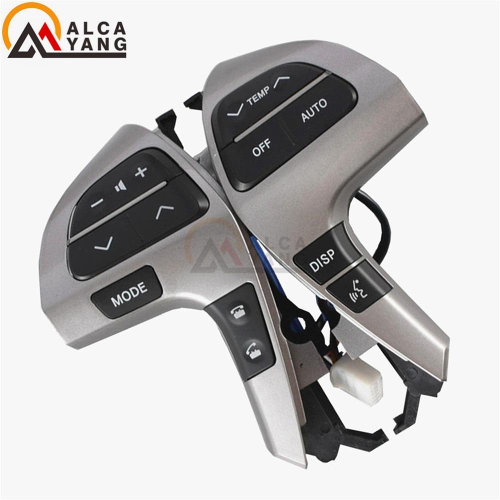 New Auto Steering Wheel Audio Control Button Switch For TOYOTA HIGHLANDER 84250-0E220 84250-0E120 84250-0K020 oem 84250 60160 b0 good quality car steering wheel switch controller for toyota prado