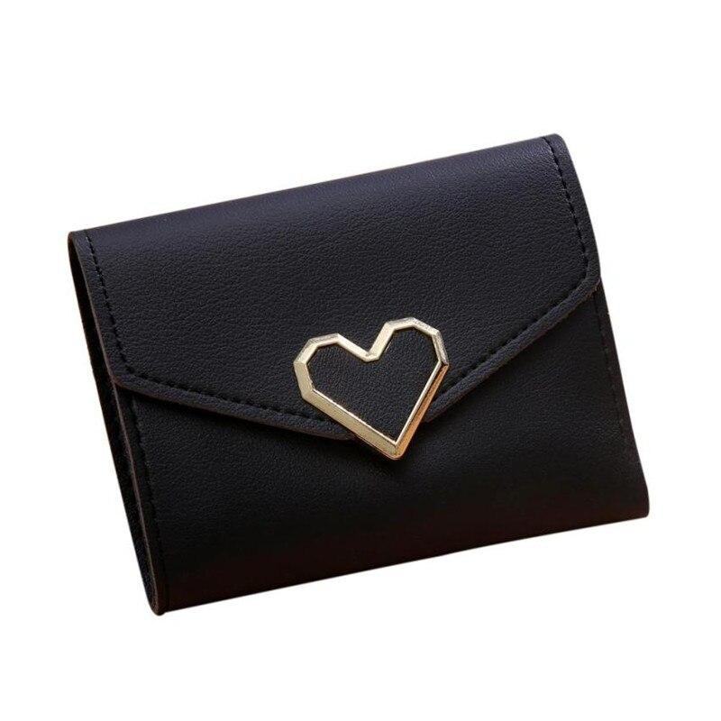 Koreanska stil kvinnor plånböcker rosa kort plånbok för - Plånböcker - Foto 1
