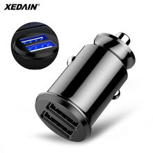 Mini Dual USB Car Charger Adapter 3.1A Max Car-Charger Mobile Phone Car USB Charger Auto Charge 2 Port for Samsung iPhone Huawei(China)