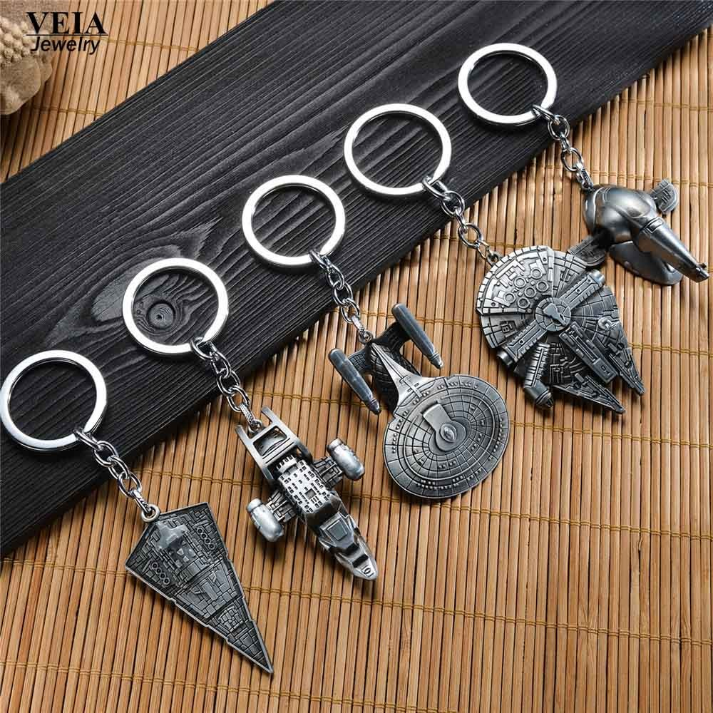 VEIA Jewelry Movie Star Wars Start Trek Firefly Serenity Replica HD Space Ship Metal KeyRing Starwars Keychain Purse Buckle Gift image