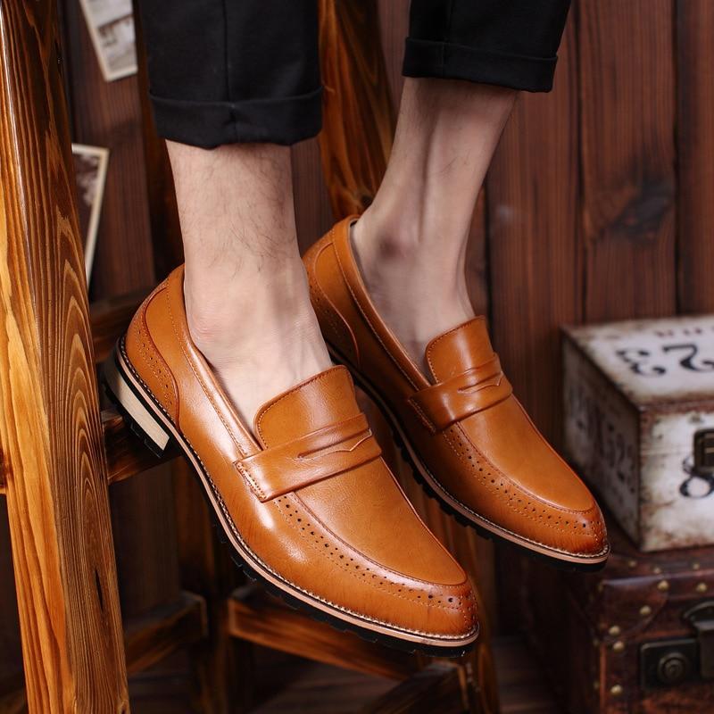 Marca Moda Mpx8116166 Primavera red Confortável Black Couro Da De Qualidade Sapatos Homens Grife Alta yellow wRq4fvP