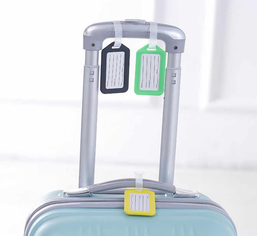2 stks/partij Reizen Accessoires Bagagelabel Koffer ID Adres Holder Bagage Boarding Tags Draagbare Label Hoge Kwaliteit Groothandel