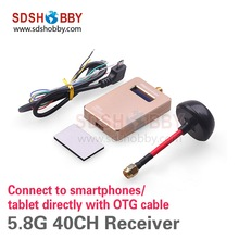 FPV 5.8G 40CH Wireless Receiver VMR40 with OTG Connect to Smartphone Tablet Directly for QAV Multirotor(China (Mainland))