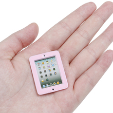 1:12 Dollhouse Miniature Pink Laptop Computer Toy Doll Room Accessories