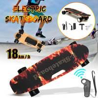 Электрический скейтборд четырехколесный Лонгборд скейтборд клен колода беспроводной пульт дистанционного управления для взрослых детей
