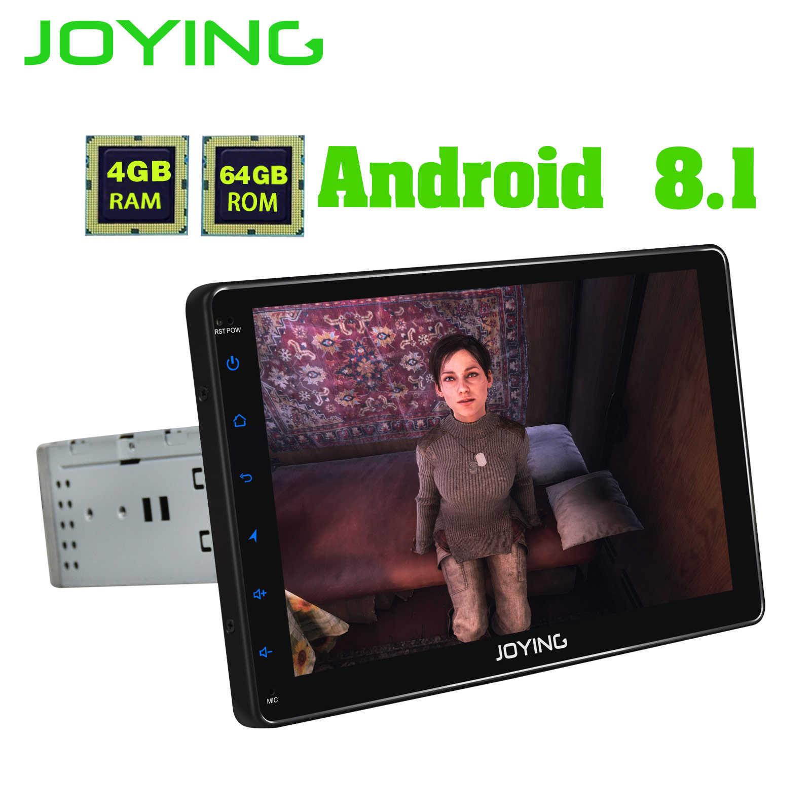 JOYING Eu 在庫 1din アンドロイド 8.1 カー autoradio ステレオ gps ナビゲーションシステムマルチメディアプレーヤーサポート DAB + DVR OBD2 リアカメラ