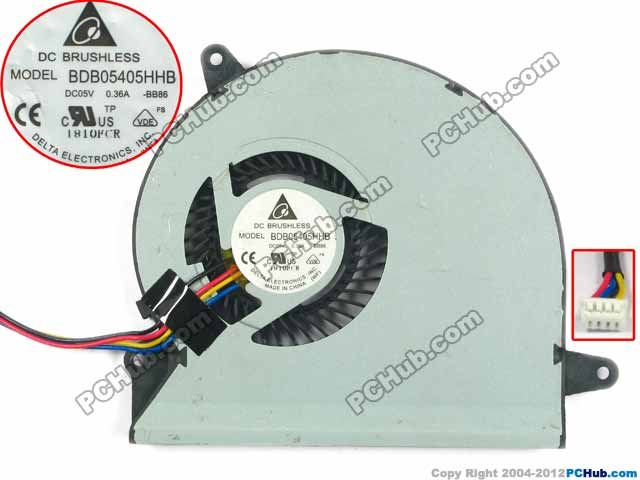 Delta Electronics BDB05405HHB BB86 13N0-LEA0101 Server Laptop Fan DC 5V 0.36A 4-wire free shipping for delta ffr1212dhe sp02 dc 12v 6 3a 120x120x38mm 4 wire car booster fan