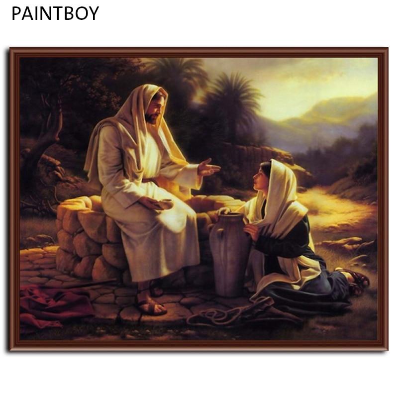 Neue Wandkunst Gerahmte Bilder Malen Nach Zahlen DIY Öl malerei Auf ...