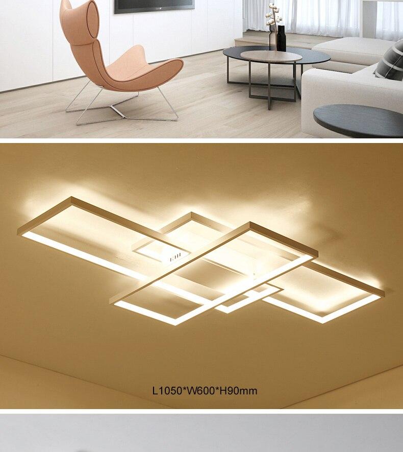 HTB1sCTnaULrK1Rjy1zbq6AenFXa1 NEO Gleam Rectangle Aluminum Modern Led ceiling lights for living room bedroom AC85-265V White/Black Ceiling Lamp Fixtures