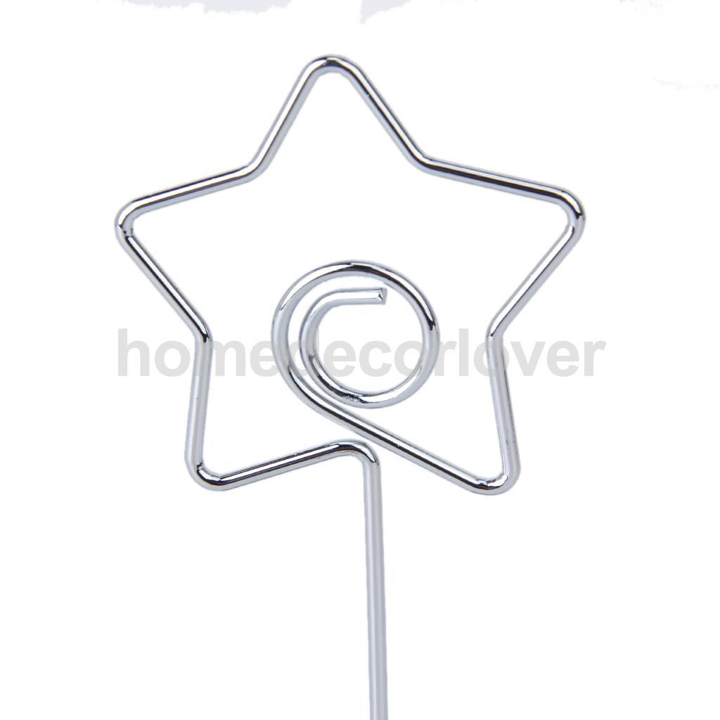 Star Shape Cube Base Wire Clip Holder Desk Stand for Card Picture ...