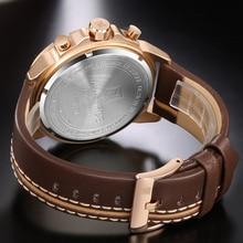 Mens Watches Top Brand NAVIFORCE Luxury Waterproof 24 hour Date Quartz Watch Man Leather Sport Wrist Watch Men Waterproof Clock
