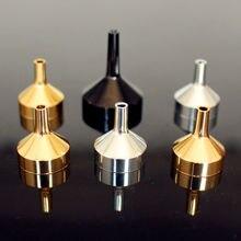 Embudo pequeño de aluminio para difusor de Perfume, botella pequeña de Metal de alta calidad, 5 unidades por paquete, Mini líquido