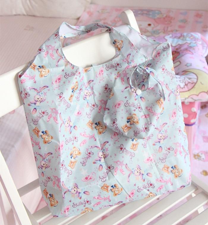 Japan Duffy Bear Stellalou Folding Grocery Bag Duffy Bear Stellalou Shoulder Bag Shopping Bag Eco Bag