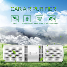 Car Air Purifier Humidifier Aroma Diffuser PM2.5 Freshener Air Purifier Air Cleaner