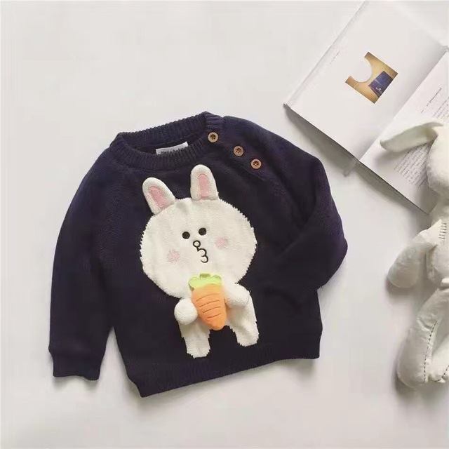 2016 autumn winter kids cartoon RABBIT CARROT sweaters baby girl clothes christmas costume vetement enfant ins hot kids outwears