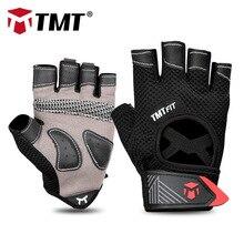 TMT тренажерный зал перчатки Для мужчин Для женщин бодибилдинг Половина Finger Фитнес перчатки-скольжения Вес подъема спортивной подготовки перчатки без пальцев