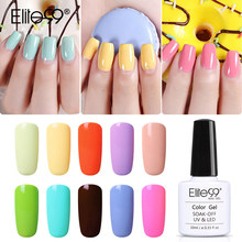 Elite99 10ml Macaron Colors Gel Nail Polish UV LED Manicure Nail Lacquer Soak Off Candy Color Nail Art Design Gel Polish(China)