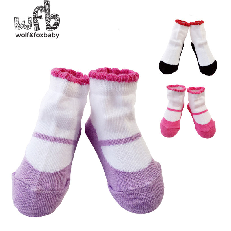 Retail 0-2 years baby candy socks girl cotton spring autumn fall winter