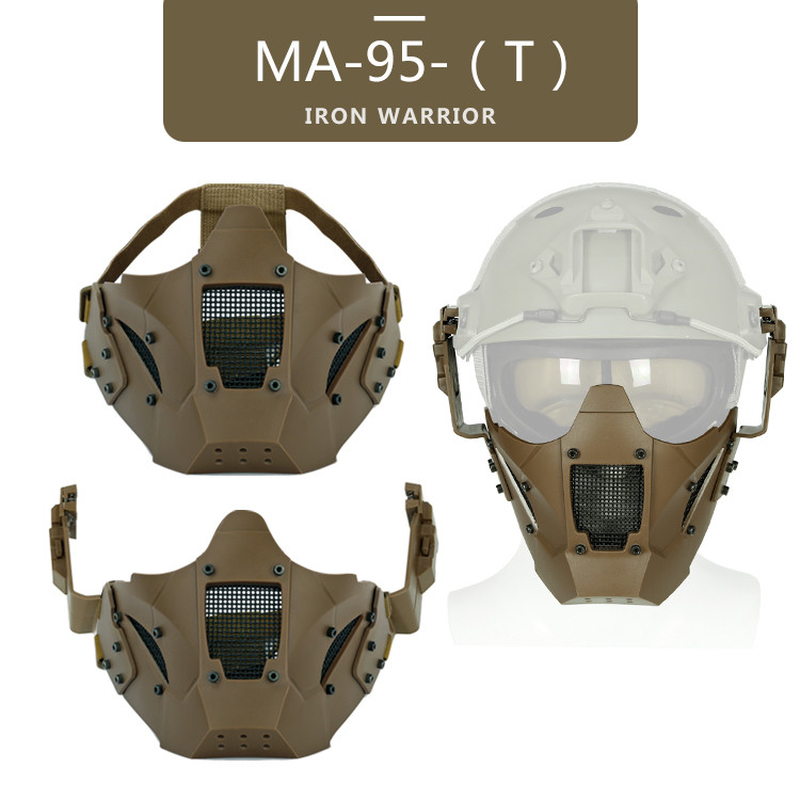 Tactical Airsoft Paintball Warrior Half Face Mask Single Use With Fast Helmet Military Protect Outdoor Hunting Paintball Mask