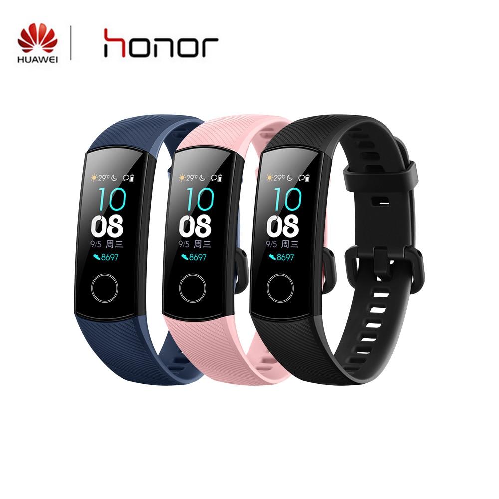 Huawei Honor Band 4 Version Standard Bracelet intelligent couleur 0.95 pouces Bracelet écran tactile nager fréquence cardiaque sommeil Snap moniteur | AliExpress