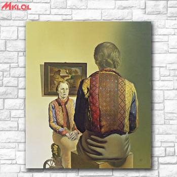 Salvador-dali-portrait-of-gala-1935 Oil Painting Wall Art Paintings Picture Paiting Canvas Print Home Decor Print Painting 2